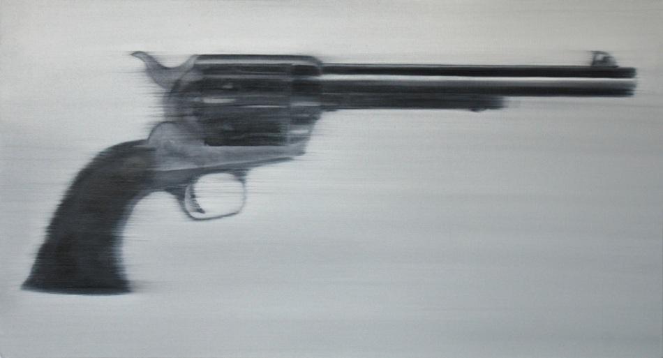 Gun II     26 x 48     oil on linen     2011